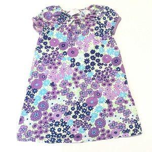 Hanna Andersson Purple Floral Play Dress Sz 120